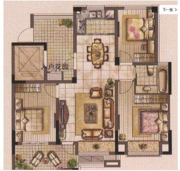 房子设计八十平米左右的三室一厅,空间会不会显的小.