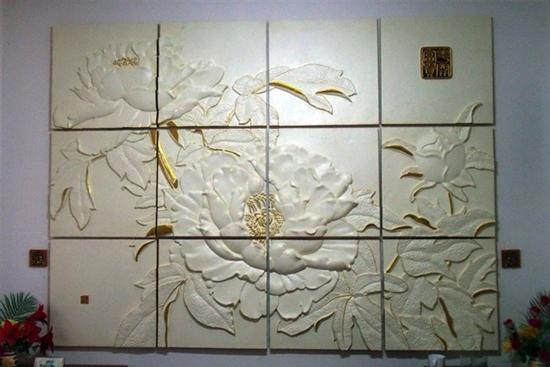 经典欧式风格背景墙浮雕解析
