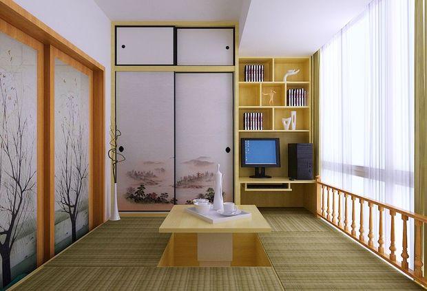 或者把小卧室铺上榻榻米,做成一个休闲室.