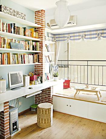 书房飘窗没有找到合适的意向,大致是这样的形式图片