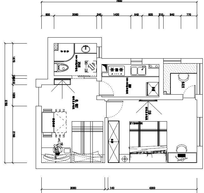 一一的小屋 一室一厅 套内40平方 简约风格