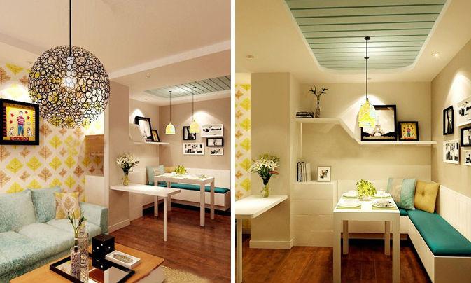 省钱省空间 20个实用餐厅卡座设计图片