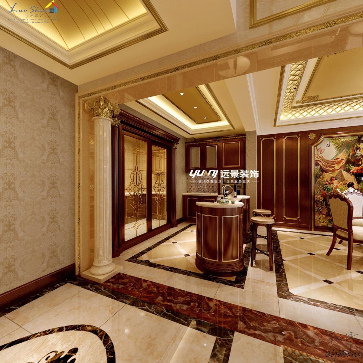 渝北两江新区装修公司华宇天宫花城欧式混搭法式新古典案例图片