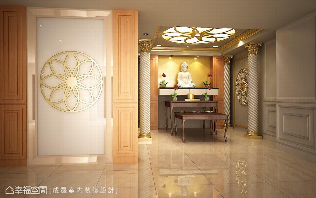 餐厅等公用领域,成晟设计在银狐大理石切割的电视墙侧铺饰亮色马赛克