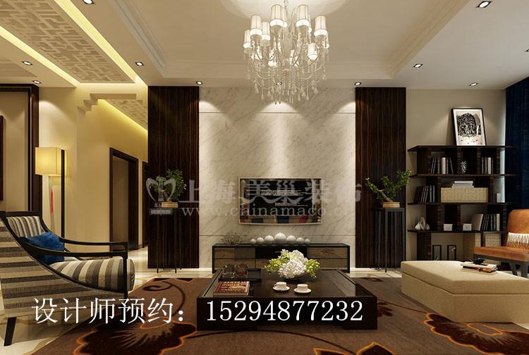 农大家属院170平四室两厅简约中式风格装修效果图图片