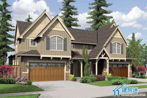 农村自建房设计图联排方案,两层联排别墅设计