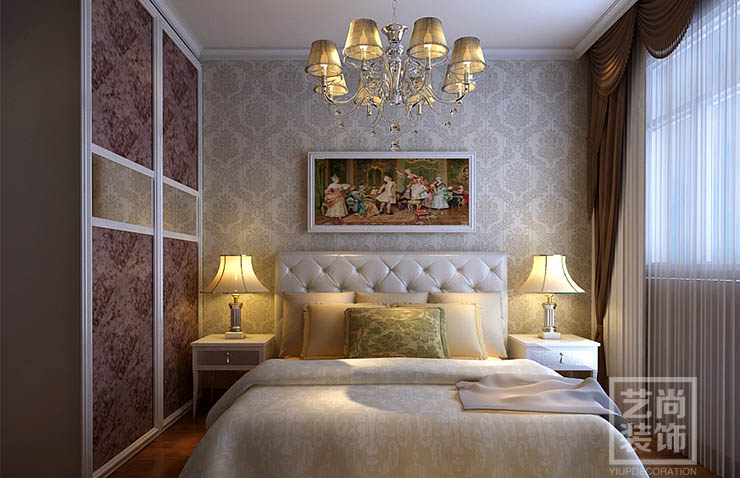 郑州望湖花园135平方三室两厅简欧风格样板间装修效果