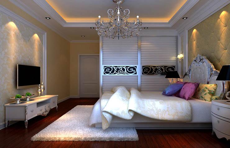 郑州祝福红城122平方三室两厅简欧装修效果图