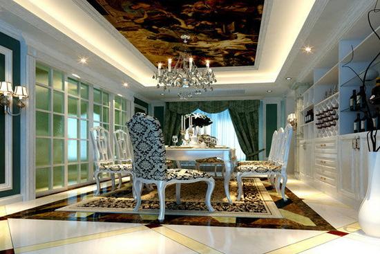 餐厅艺术玻璃背景墙   餐厅艺术玻璃背景墙1     设计师运用欧式的