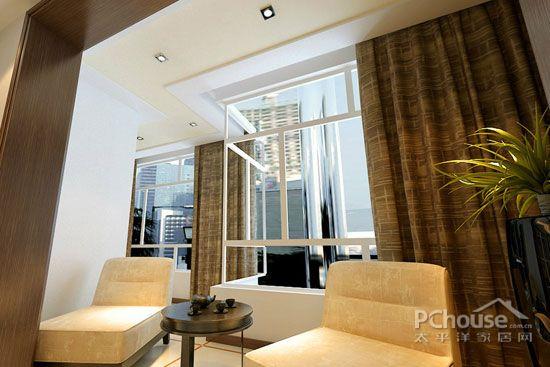 挑高客厅窗帘效果图大全     客厅阳台的采光效果非常好,需要用