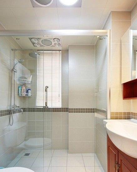 卫浴装修 干湿分离采用隔断进行分隔