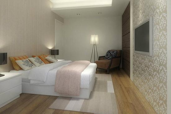 现代简约小卧室装修效果图大全