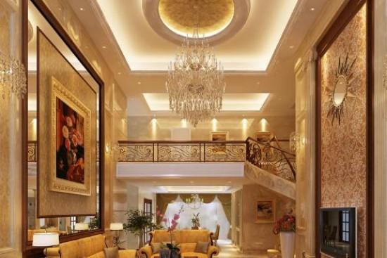 欧式风格客厅吊顶效果图大全
