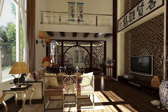 新中式别墅装修效果图大全