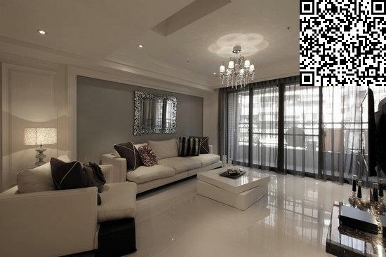 客厅背景墙参考 简欧风格装修效果图