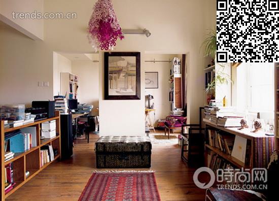 地中海风单身公寓 交换空间装修效果图