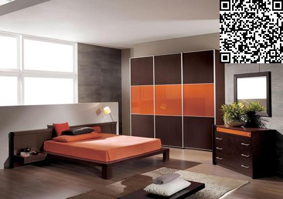 卧室衣柜装修效果图     设计重点:窗户充当床头背景墙