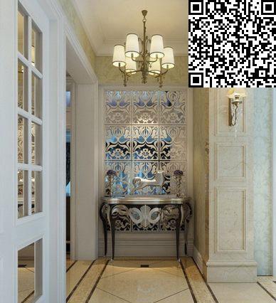 走廊设计     混搭格调的入户玄关设计,马赛克瓷砖