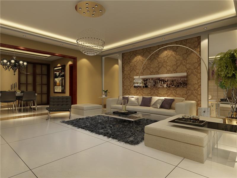 正商红河谷 别墅 现代奢华风格 装修设计 案例        赏析--客厅