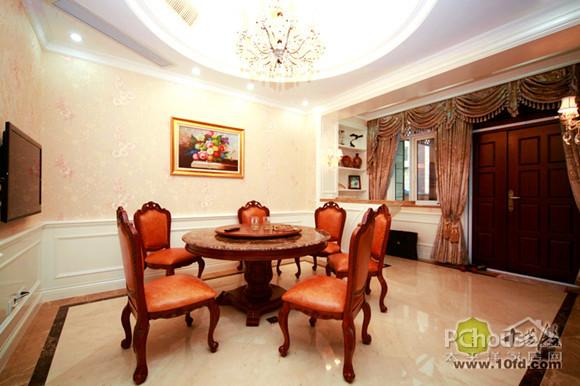 华丽欧式别墅 十芳殿     餐厅在设计时并没设置正餐厅和简易