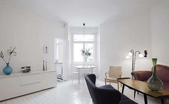 简约欧式风格 白色木地板无暇公寓