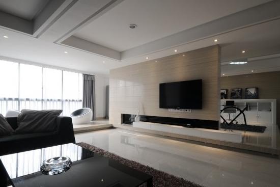 客厅电视背景墙颜色搭配与风水关系