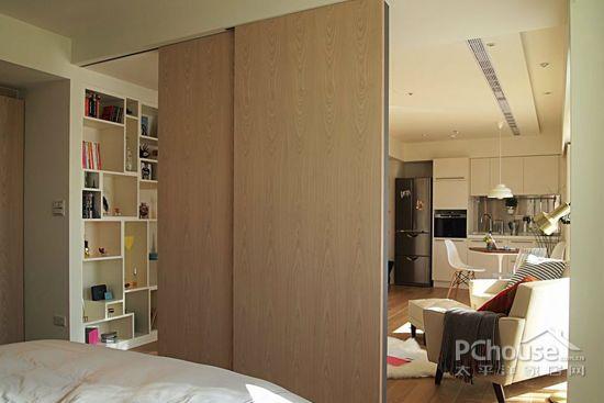 复古北欧风单身公寓装修推荐之卧室     聚焦墙面深灰色墙面位居视图片