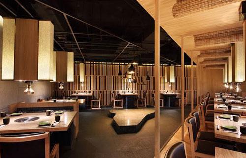餐饮空间设计案例 简约时尚日式餐厅图片