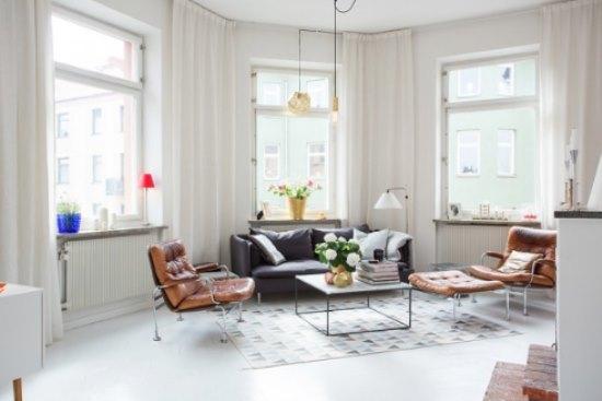 简约欧式风格公寓 纯白色调带来安静感