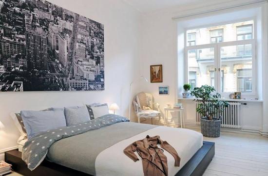 9款小户型卧室背景墙 简约北欧风