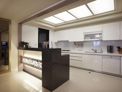 小空间厨房扩容简招 吧台隔断二合一图片