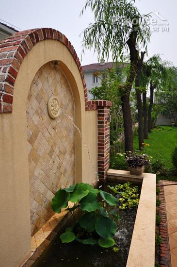 庭院欧式水景墙模型