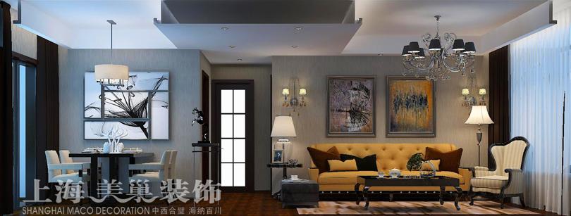 巴黎御景兩室兩廳70平現代簡約風格裝修效果圖