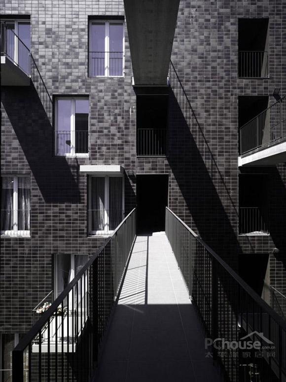 交错空间建筑手绘图