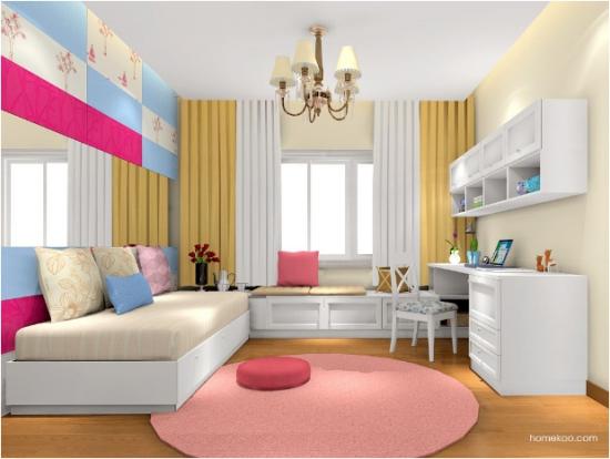 书房带床精彩装修效果图