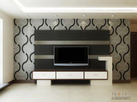 花纹电视墙背景墙装修效果图