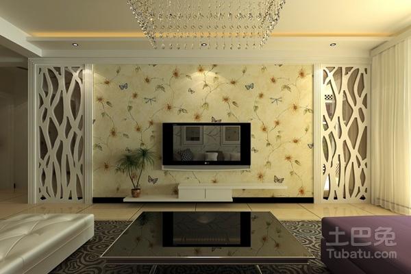 电视背景墙墙纸装修效果图及品牌推荐