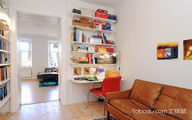 创意小书房书柜装修效果图欣赏