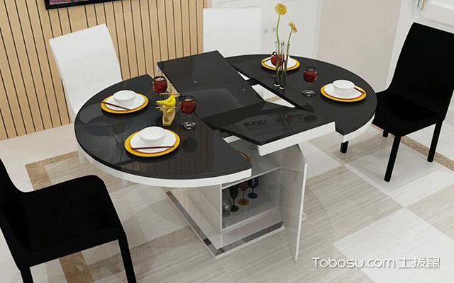 折叠餐桌装修效果图 小户型的必备