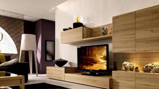 木质材料电视背景墙装修效果图