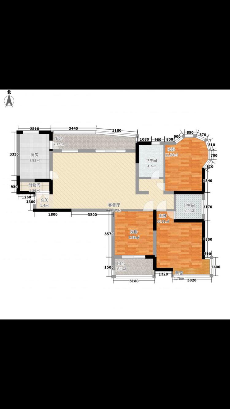 【奇葩户改七】l型户型,半圆形卧室,三房改四房