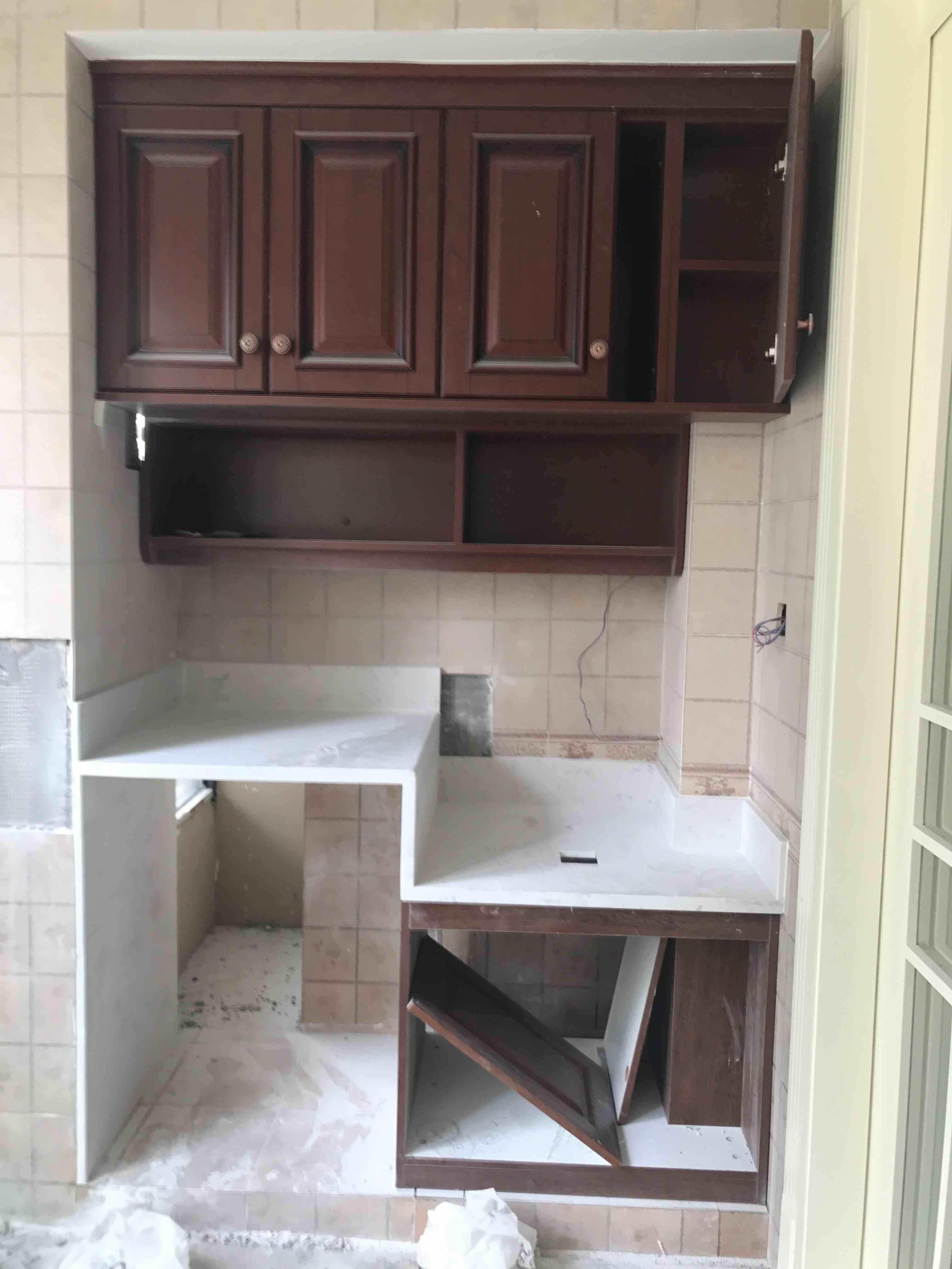 阳台洗衣机柜 壁炉大理石铺设图片