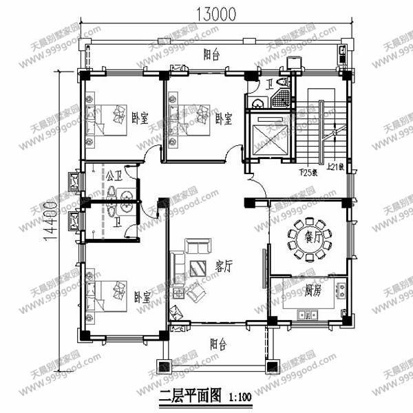 厦门地区192平方自建房户型设计!