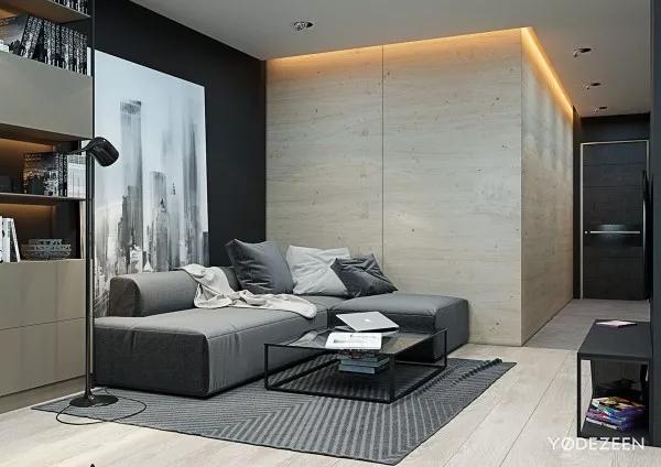 生活空间之间的划分是由主题装饰和内置分隔线组合而成.