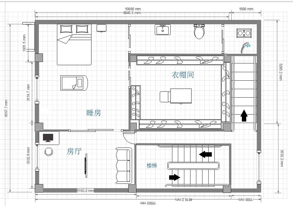 110平自建房 想整层做房间,求改造