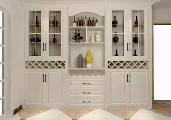 家庭酒柜图片  2020年2月6土拨鼠装修网隔断六门酒柜效果图专区提供