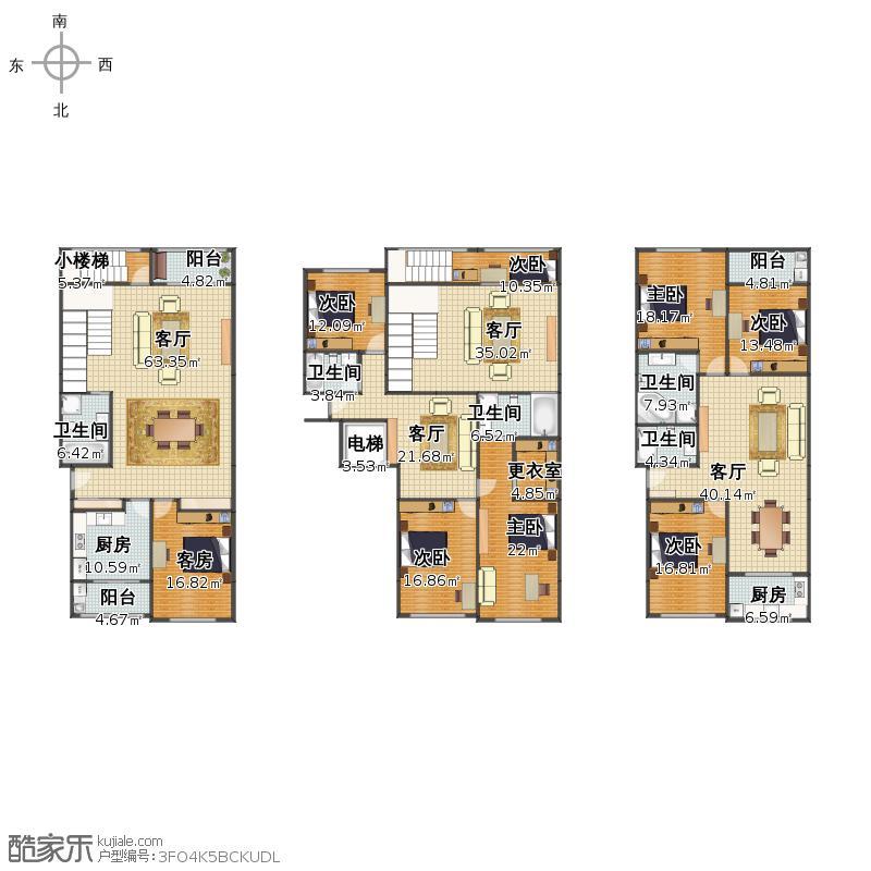 楼中楼 与 小单元户型图