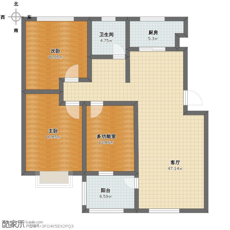 三室二厅一厨一卫户型图大全,装修户型图,户型图分析