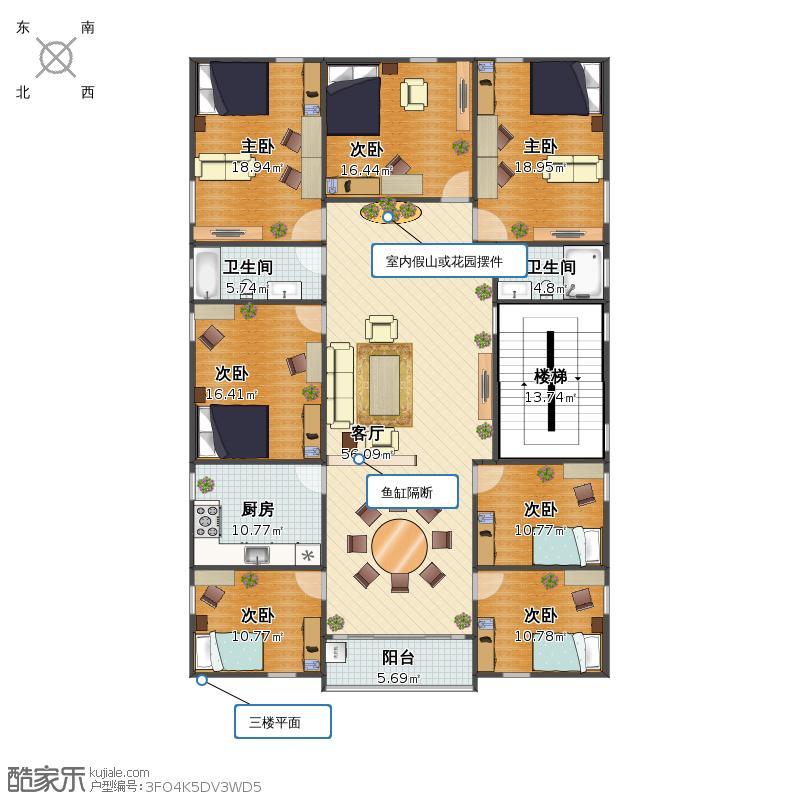 农村自建房三楼方案4户型图大全,装修户型图,户型图