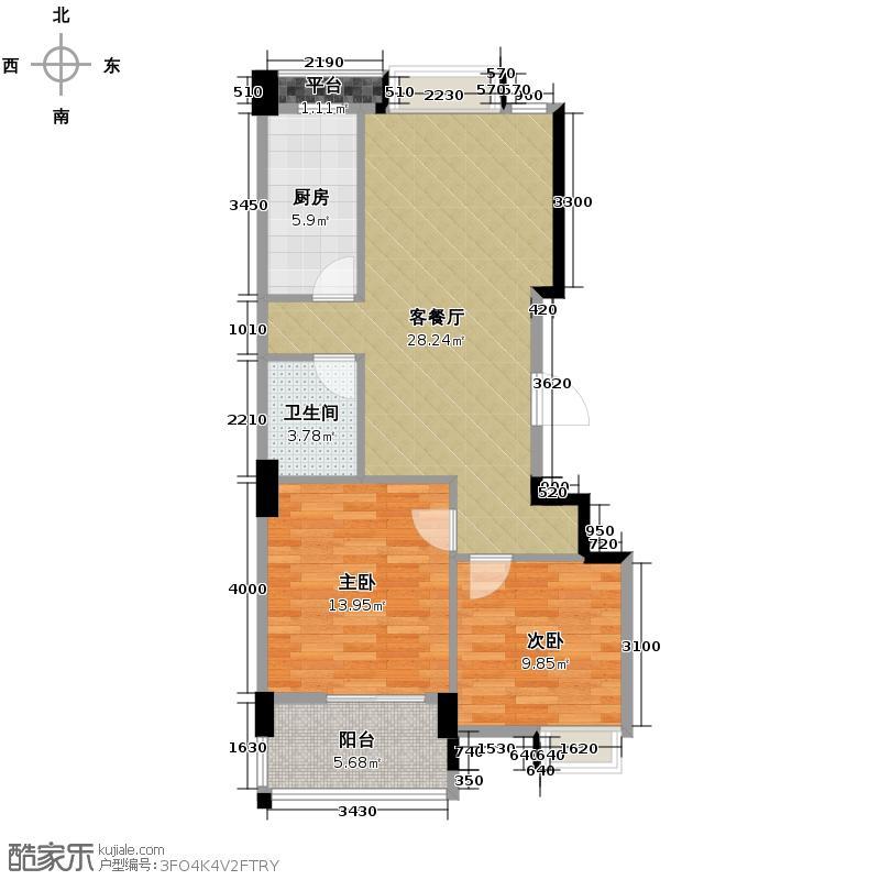 中国户型大全 杭州 金瑞风景大院 2室1厅1卫1厨 80-100㎡  户型图报错